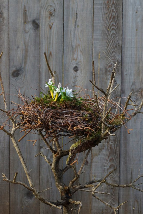 Ein Nest aus Birkenreisig Nest aus Birkenreisig DIY (Bildquelle: Living and Green)