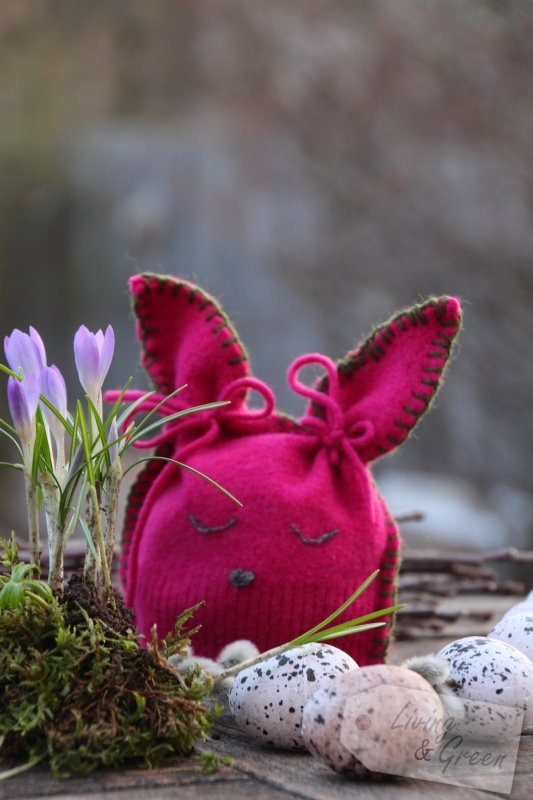 Last Minute *Osterhasen-DIYs* - Hase aus altem Pullover Upcycling