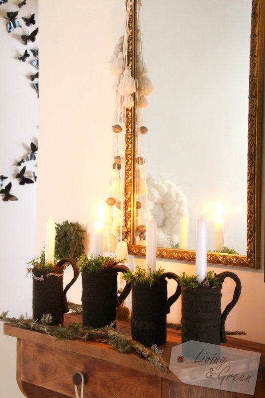 Advent, Advent ... *Dosen-Tassen-DIY* - Adventsdekoration Tassen aus Dosen DIY